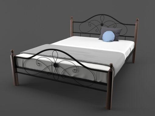 Кровать-Фелиция-Вуд-Melbi-двуспальная-черная