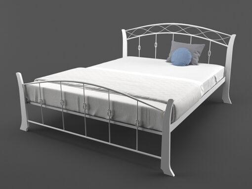 Кровать-Летиция-Вуд-двуспальная-белая-в-интерьре-Melbi