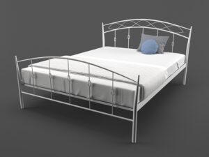 Кровать-Летиция-двуспальная-белая-Melbi