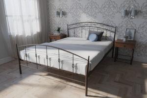 Кровать-Летиция-двуспальная-коричневая-в-интерьре-Melbi
