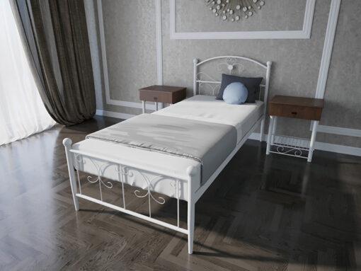 Кровать-Патриция-Melbi-односпальная-белая-металл