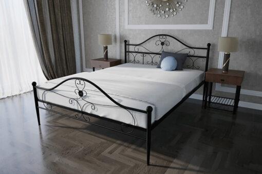 Кровать-Патриция-двуспальная-черная-в-интерьере-Melbi