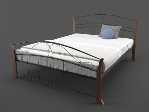Кровать-Селена-Вуд-двуспальная-черная-Melbi