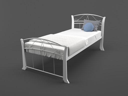 Кровать-Селена-Вуд-односпальная-белая-Melbi