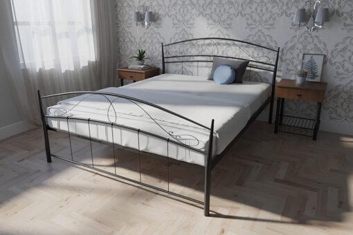 Кровать-Селена-двуспальная-черная-в-интерьере-Melbi