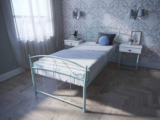 Кровать-Селена-односпальная-бирюза-Melbi