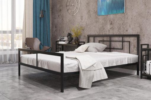 Металлическая-кровать-Квадро-Металл-дизайн