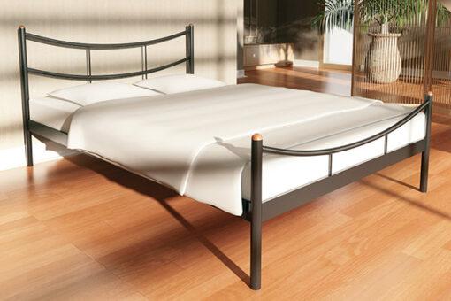 Кровать-из-металла-SAKURA-2-с-изножьем-Метакам