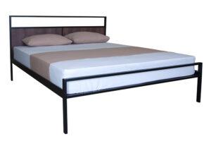 Металлическая кровать Кристи Вуд двуспальная Melbi