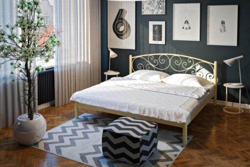 Кровать-Лилия-металлическая-Tenero-в-интерьере