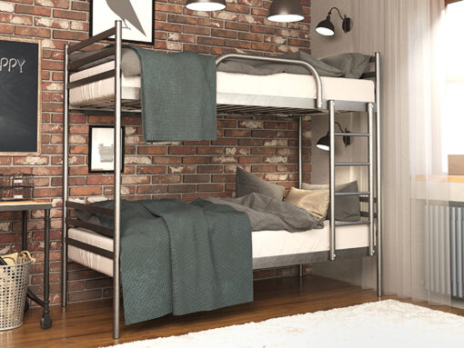 Кровать металлическая двухъярусная FLY DUO Метакам