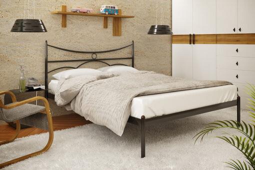 Металлическая кровать Барселона без изножья Метакам