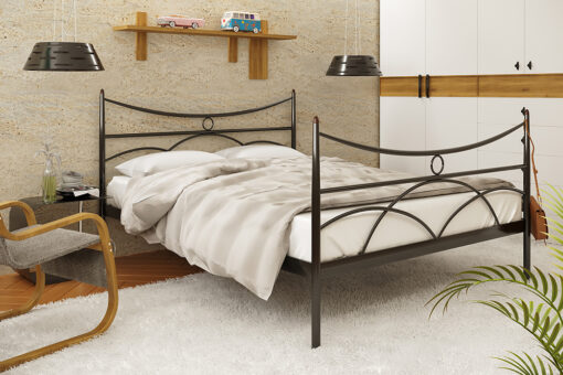 Металлическая кровать Барселона с изножьем Метакам