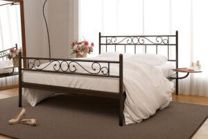 Металлическая кровать Эсмеральда с изножьем Метакам