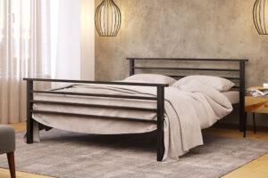 Металлическая кровать Лекс Lex с изножьем Метакам