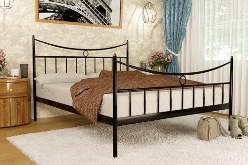 Металлическая кровать Paris Париж с изножьем Метакам