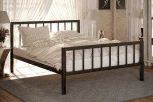 Металлическая кровать Турин с изножьем Метакам
