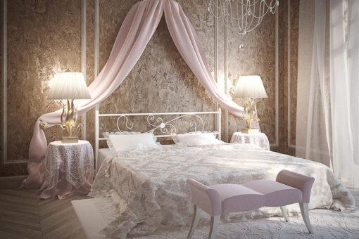 Металлическая кровать Хризантема Тенеро