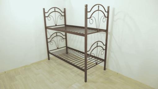 Кровать Диана деревянные ножки 2 яруса - Фото 1