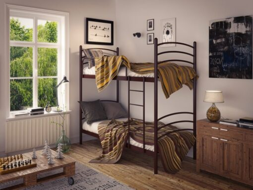 Кровать Маранта Дуо двухъярусная металлическая