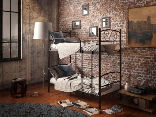 Кровать Виола Дуо двухъярусная металлическая