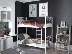 Кровать Жасмин Дуо двухъярусная металлическая