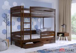 Кровать Дуэт Плюс цвет 101 темный орех