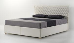 Кровать подиум Ромб белая Мекано