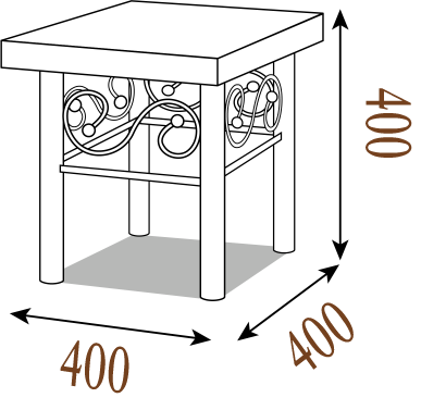 Схема Пуфик Металл-Дизайн